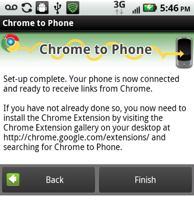 How to send webpage from Chrome to your phone