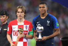 Modric, Mbappe, Kane, Griezmann And Others Win FIFA Adidas Awards At World